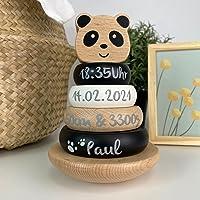 Stapelturm Panda Black & White personalisierbar, label label