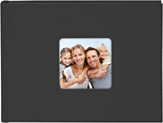 goldbuch Living Black Picture Cut 36 White Pages with Glassine Dividers, Album for Gluing, Photo Book with Linen Effect Co...