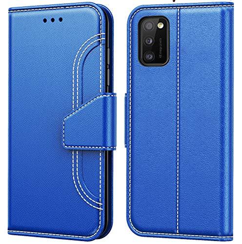 Tenphone - Custodia per Samsung Galaxy A41, vari colori disponibili, in pelle PU, chiusura magnetica per Samsung Galaxy A41 (6,1 pollici), colore: Blu