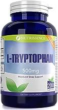 L-Tryptophan 500mg 200 Capsules 200 servings - or 100 servings of 1000mg - Nutrissence