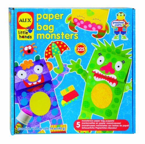 Alex Little Hands Paper Bag Monsters Kids Toddler Art and Craft Activity