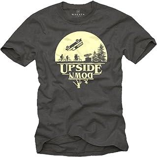 MAKAYA Camiseta Frikis Hombre - Upside Down - T-Shirt Stranger Things