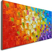 Seekland Art Hand Painted Texture Large Oil Painting on Canvas Modern Abstract Huge Wall Art for Living Room Decor Contemporary Artwork Framed Ready to Hang (Framed 6030 inch)