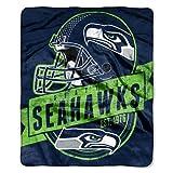Seattle Seahawks 50''x60'' Royal Plush Raschel Throw Blanket - Grandstand Design