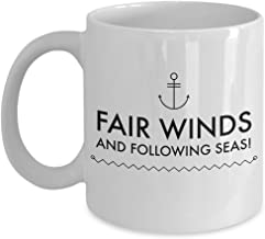 Sailor Gift Fair Winds and Following Seas Navy Coffee Mug Blessing Going Away Retirement Deployment
