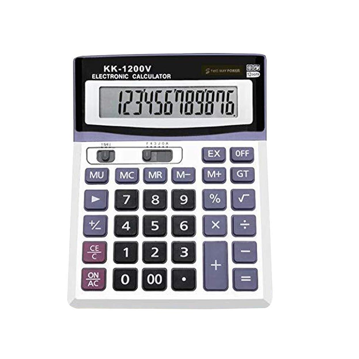 タイトサスティーンベーリング海峡STOBOK 電卓 電子卓上電卓 12桁 大型ディスプレイ ソーラーバッテリー LCDディスプレイ オフィス電卓 金融オフィス用