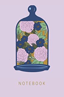"""Floral Bell Jar - Journal / Notebook - 6""""x9"""" - Hand-drawn: 200 pages - Lined for Writing"""