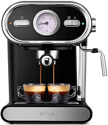 NJYDQ Super Automatic Espresso Machine Wand Frothing and Drinks. Espresso from Pre-Ground or Whole Bean Coffee.