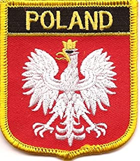 POLAND COAT OF ARMS embroidered PATCH iron-on POLSKA CREST Eagle BIRD APPLIQUE