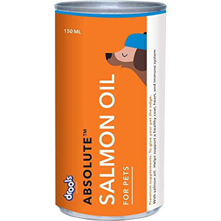 Drools Absolute Salmon Oil Syrup - Dog Supplement, 150 ml