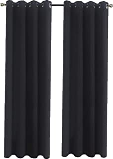 Aquazolax Thermal Insulated Blackout Curtains 84 Long Heavy Duty Window Curtain Panels Drapes 52