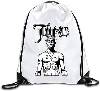 Acosoy 2PAC Logo Drawstring Backpacks/Bags