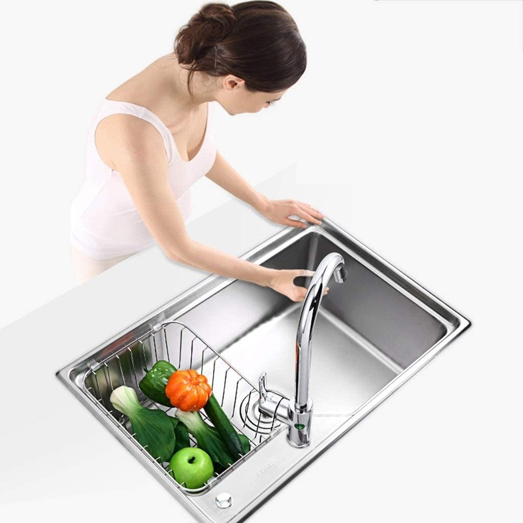 Buy Kitchen Sink Deepen Large Drainable Metal Pool Consumer And Commercial Kitchen Must Have Sink With Faucet Color Silver Size 67 543 523cm Online In Germany B07vr4m3cc