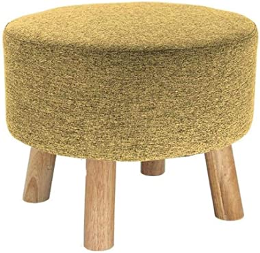 THBEIBEI Storage Benches Footstools Upholstered Ottoman Luxury Pouffe Wood Change Shoe Bench Sofa Stool Rest Stool Makeup Stool Removable Linen Cover Solid Colour