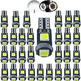 Wljh 30pezzi 6000K bianco puro 1.5W Canbus senza errori T5LED Angel Eyes Halo anel...