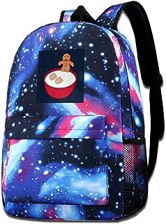 Galaxy - Bolsa de hombro estampada para hombre de jengibre con problemas de leche, mochila casual de Star Sky para niños y...