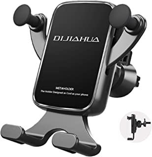 Car Phone Mount Vent Holder, Gravity Auto Lock Mount Holder for Car, 360 Adjustable DIJIAHUA Phone Holder Compatible with iPhone 11 Pro Max XR X 8 Galaxy S9 10 LG Moto Google Pixel and More