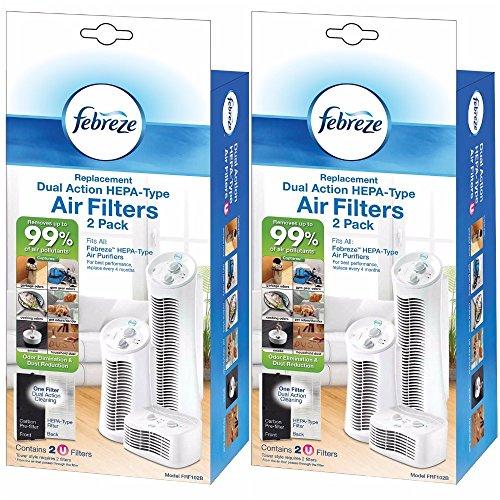 Kaz Febreze FRF102B Replacement Dual Action Filter, 4-Pack