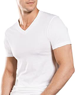 Men's Tall/Extra Tall Blended Cotton V-Neck Undershirt 4-Pack