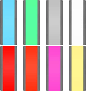 Hestya 16 Pieces Large Guided Reading Strips Colored Highlighter Bookmarks Plastic Reading Overlays for Kids Learning Supply, 8 Colors