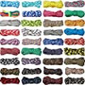 36 Pieces 550 Paracord Cord 10 Feet Colorful Paracord Ropes Multifunction Paracord Bracelet Crafting Rope for Lanyards Keychain Dog Collar Woven Manual Braiding DIY Supplies, 36 Colors
