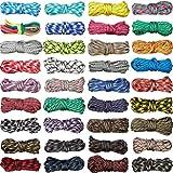 550 Paracord-Seil, 3 m, bunte Paracord-Seile, Multifunktions-Paracord-Seil für Lanyards, Schlüsselanhänger, Hundehalsband, gewebt, manuelles Flechten, DIY-Zubehör, 36 Farben