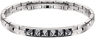 Crystal Authentic Fire Bracelet Gray Mix Plated Medium