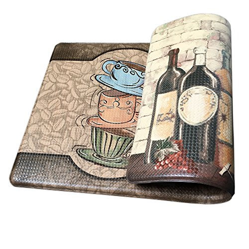 Art3d Premium Reversible Memory Foam Kitchen Mat Anti-Fatigue Chef Mat, 18' X 30'