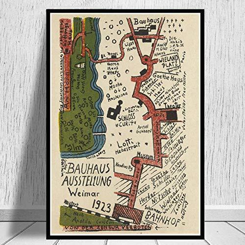keletop 1000pcs_Wooden Adult Puzzle_Bauhaus Exhibition_Juegos Casuales Divertidos Juguetes de Regalo para Amigos y Familiares_50x75cm