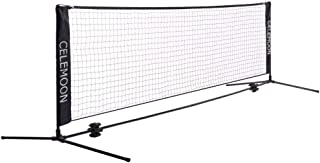 CeleMoon Portable Foldable Tennis Net Set for Tennis, Pickleball, Kids Soccer, Volleyball - Easy & Quick Setup Assembly Nylon Sports Net with Poles for Indoor Outdoor Backyard, Court, Beach, Driveway