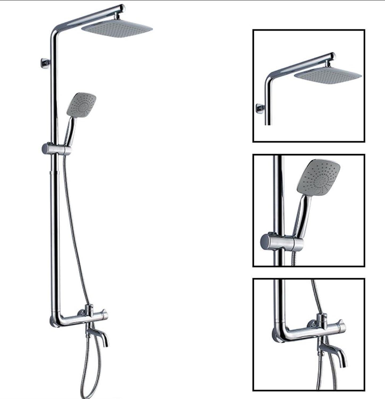 Caribou 3 - Einstellung des Multifunktionshebels aus massivem Messing Badezimmer Luxus Regen Mixer Duschkombination Bleifrei, Chrom