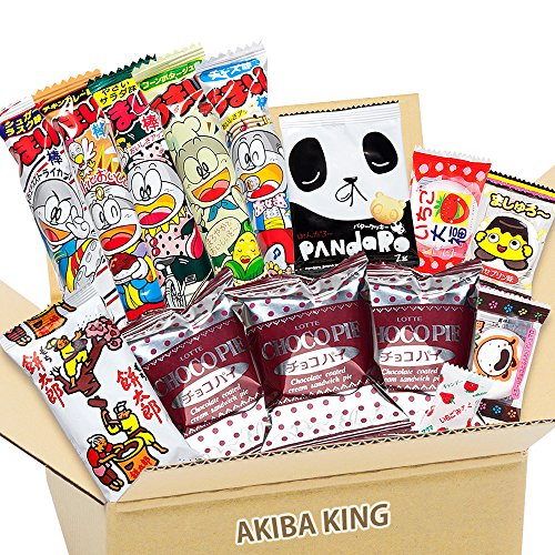 Choco Pie chocolate y snack japonés DAGASHI con adhesivo AKIBA KING
