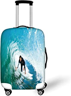 Travel Luggage Cover Suitcase Protector,Vertical Arrangement Abstract Colorful P