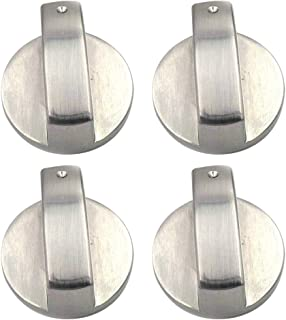 UPKOCH 4pcs Stove Switch Replacement Stainless Steel Universal Range Burner Control Knob Button for Oven Gas Stove Range