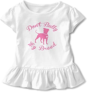 CZnuen Cute Boston Terrier Baby Girls Basic Short Puff Sleeve Round Neck Ruffle T-Shirt