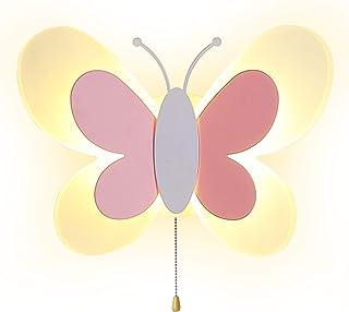 AKBOY Lampa ścienna LED nowoczesne światła motyl wewnętrzne światła ścienne oświetlenie nocne trójkolorowe przyciemniane k...