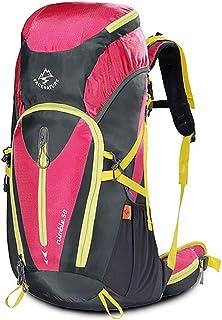 Mochilas montaña Mochila deportiva al aire libre mochila deportiva para hombres y mujeres mochila de viaje impermeable de gran capacidad 50L Mochilas de marcha ( Color : A , Size : 50L-30/28*68CM )