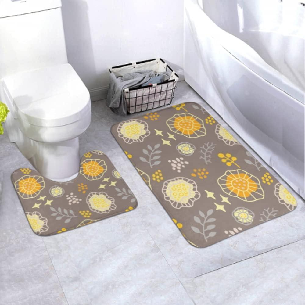 Bath Mat Set Colorful Popular overseas Repeat Elements Area Rug Piece Regular dealer 2 Inclu