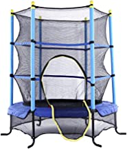 LANGYINH Kid Trampoline with Safety Enclosure Net Outdoor Garden Bouncy Trampoline Perfect for Children Toddlers,4.5FT