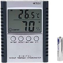 Uzinb Estación HC520 / Salida Digital termómetro higrómetro Humedad de la Temperatura del LCD del Metro del Tiempo con el Alambre del Sensor