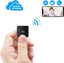 Kaisio Mini Spy Camera WiFi with Night Vision,Wireless Portable Hidden Nanny Camera with Motion Detection for Home/Office Wireless Security IP Camera Support Cloud Storage(2019 New Version)