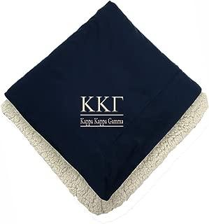 Sorority Letters Shop Kappa Kappa Gamma Sherpa Throw Blanket