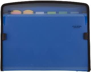 Five Star Expanding File, 7-Pocket Expandable Folder, Zipper Closure, Customizable, Blue (72711)