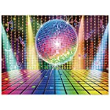 Allenjoy 8x6ft 70s Theme Party Decorations Disco Backdrop Banner 70's Photo Booth Backdrop Wall Decorating for Let's Glow in The Dark Adult Neon Disco Birthday Supplies 80s 90s Background Prom Favors