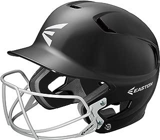 EASTON Z5 Senior Batting Helmet with Baseball Softball Mask | 2019 | Unisex | Dual Density Shock Absorption Foam | High Impact Resistant ABS Shell | Moisture Wicking BioDRI liner