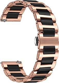 TRUMiRR 20mm Reloj de cerámica de la Venda de la Correa de Todos los Enlaces Desmontable para Samsung S2 Engranaje clásico (SM-R732 / R735) Moto 2 360 Hombres 42mm 2015 Guijarro Tiempo Ronda 20mm