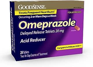 GoodSense Omeprazole Delayed Release Tablets 20 mg, Acid Reducer, Treats Heartburn, 28 Count