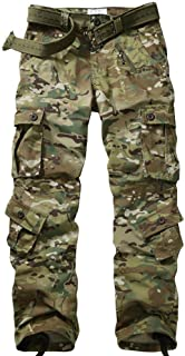TRGPSG Pantaloni Cargo da Uomo Pantaloni Militari, Pantaloni Casual Pantaloni Sportivi in Cotone Multi Tasca mimetici Carg...