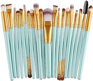 CINIDY 20 pcs Makeup Brush Set tools Make-up Toiletry Kit Wool Make Up Brush Set (Gold)