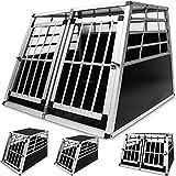 Deuba Hundetransportbox aus leichtem Alu mit verschließbarer Tür 69x54x50cm